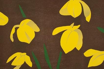 Das Werk Yellow Flags des Künstlers Alex Katz