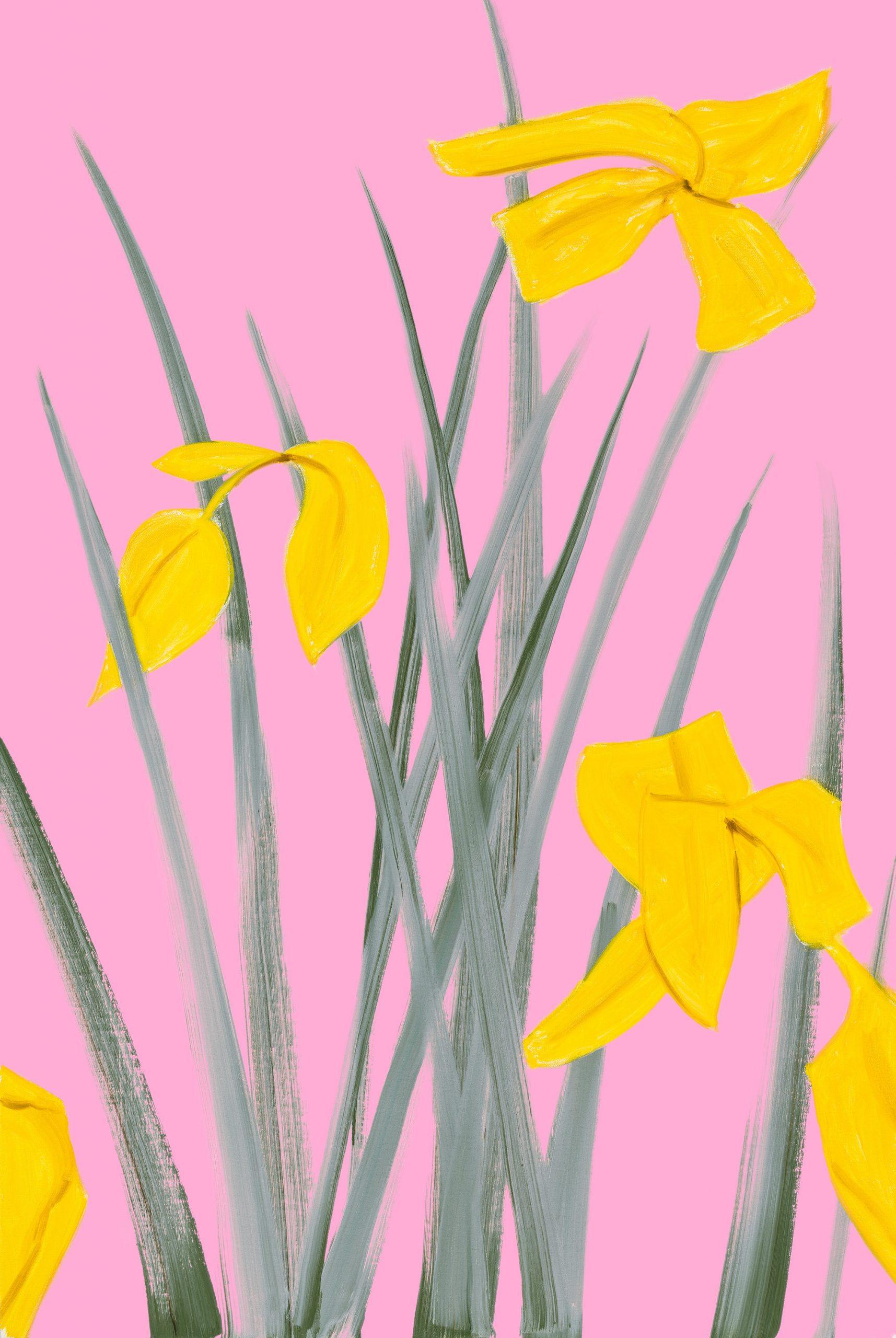 Alex Katz Yellow Flags 3, Pigmentdruck, signiert, nummeriert, Auflage 150 Stück