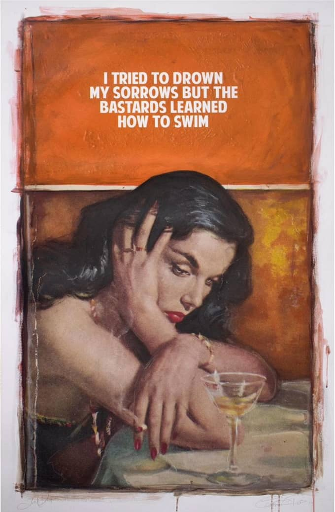 The Connor Brothers Pulp Fiction Series - Drowned Sorrows, Druck, signiert, nummeriert, Auflage 3