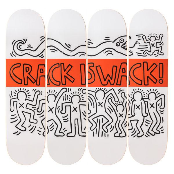 Keith Haring Crakc is Wack Skateboards
