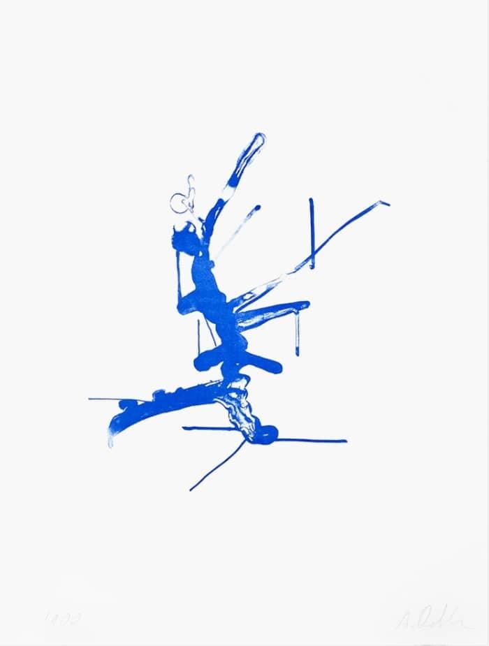 Albert Oehlen Baum Blau Kunstwerk