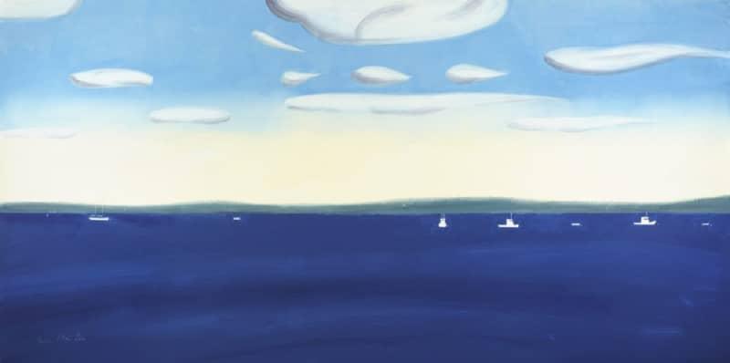 Alex Katz 430 pm Pigmentdruck mit einer Seascape