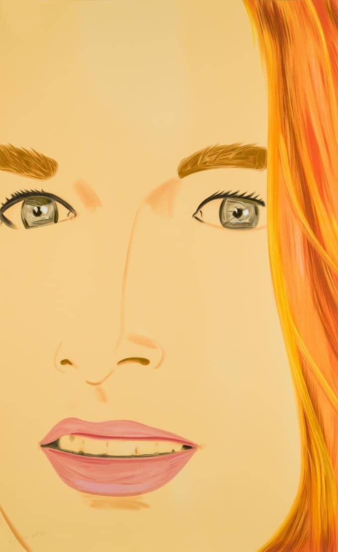 Alex Katz Ariel 1 Orange screenprint