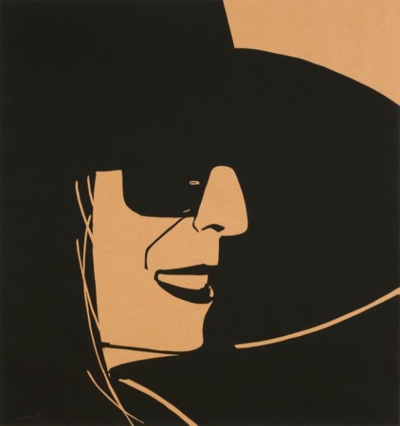 Alex Katz Big Black Hat Ada (brown), Siebdruck, signiert, nummeriert, Auflage 10 Stück