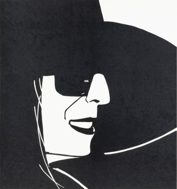 Alex Katz Black Hat (Ada), Holzschnitt, signiert, nummeriert, Auflage 25 Stück