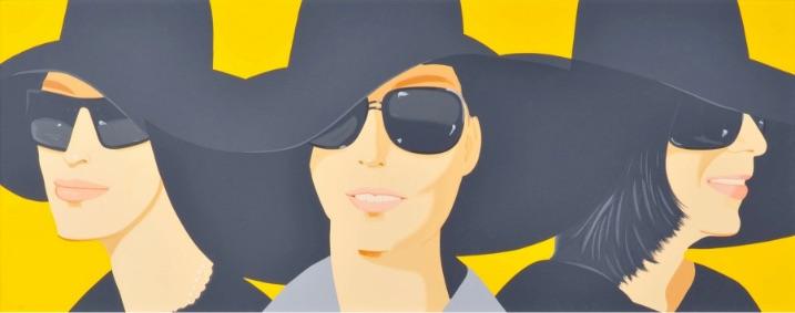 Alex Katz Black Hats IV, Siebdruck, signiert, nummeriert, Auflage 50 Stück