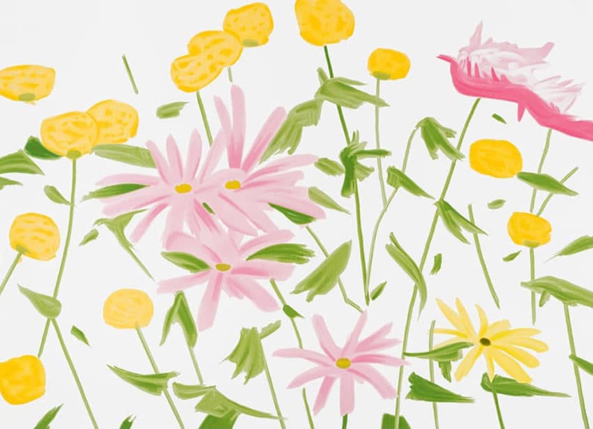 Alex Katz Spring Flowers Screenprint