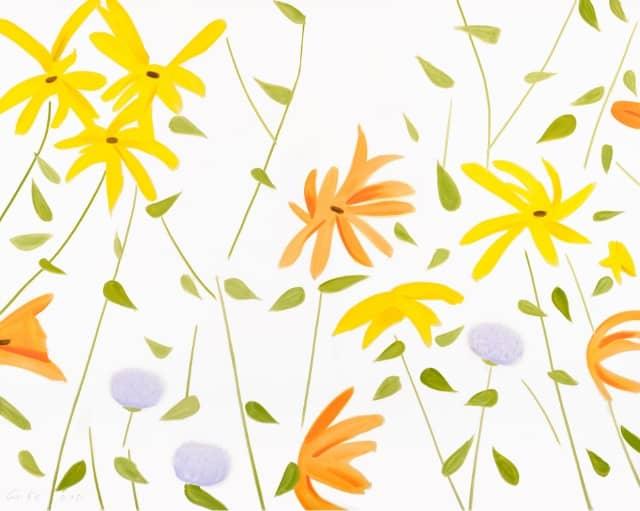 Alex Katz Summer Flowers 2, Pigmentdruck, signiert, nummeriert, Auflage 100 Stück