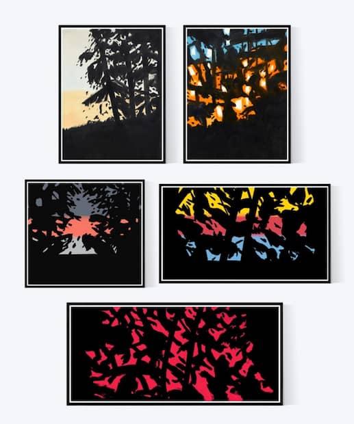 Alex Katz Sunrise Sunset Landscape Portfolio, Pigmentdruck, signiert, nummeriert, Auflage 35 Stück