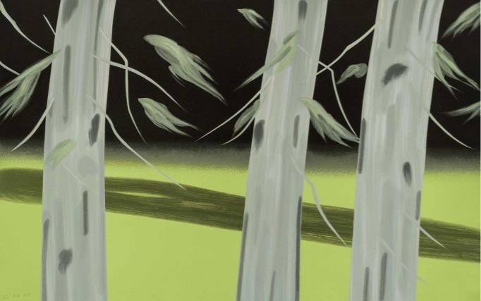 Alex Katz Three Trees, Siebdruck, signeirt, nummeriert, Auflage 60 Stück