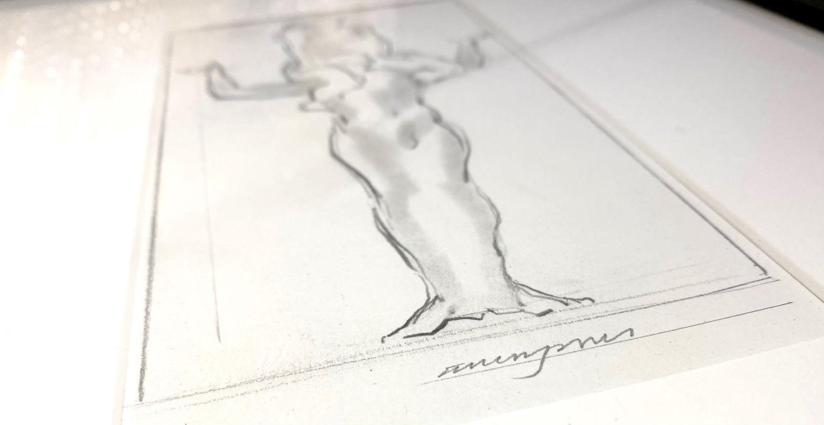 Allen Jones Cascade Drawing