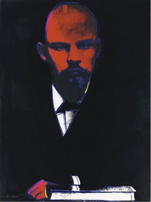 Andy Warhol Black Lenin ( FS II.402 ), Siebdruck, signiert, nummeriert, Auflage 120 Stück