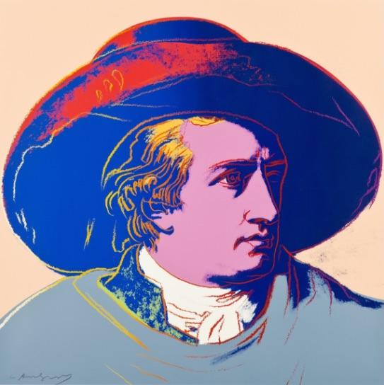 Andy Warhol Goethe FS II.273, Siebdruck, signiert, nummeriert, Auflage 100 Stück