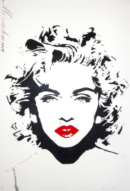 BAMBI Street Artist Monadonna, Lithographie, signiert, nummeriert, Auflage 90 Stück