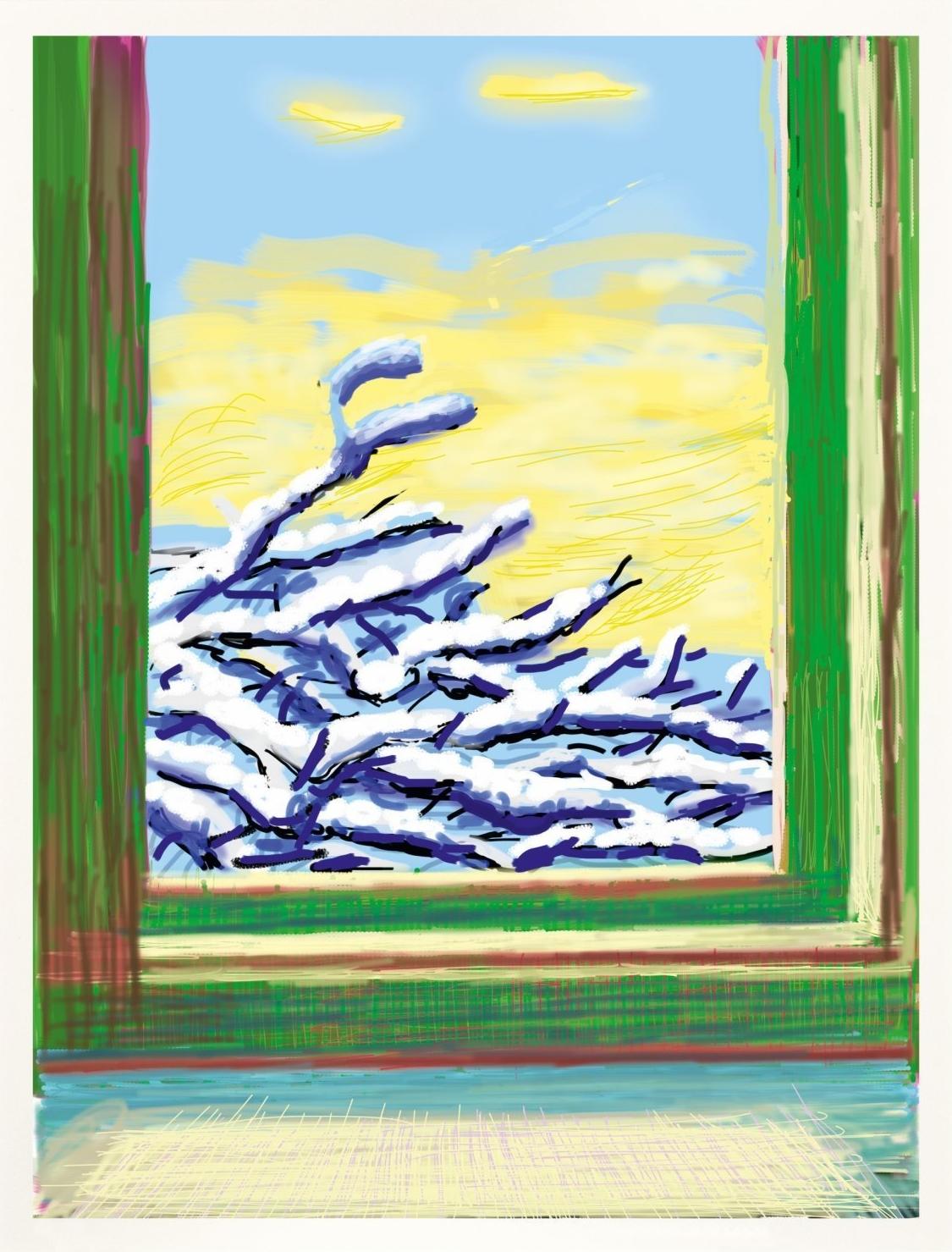 David Hockney iPad Drawing My Window 610
