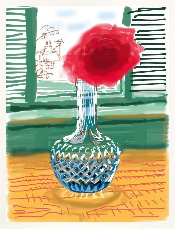 David Hockney iPad Drawing 281, Tintendruck, signiert, nummeriert, Auflage 250 Stück