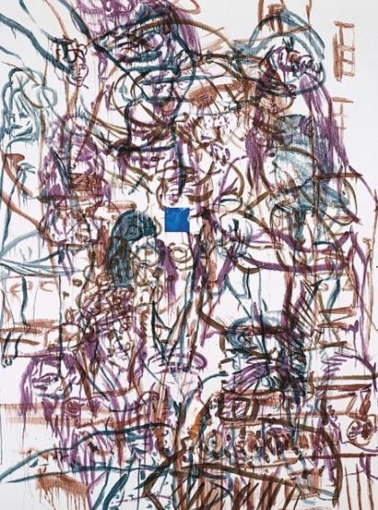 David Salle Theme for an Aztec Moralist I, Lithographie, signiert, nummeriert, Auflage 40 Stück