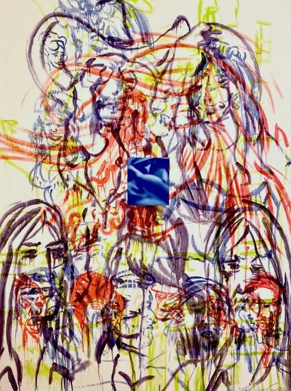 David Salle Theme for an Aztec Moralist II, Lithographie, signiert, nummeriert, Auflage 40 Stück