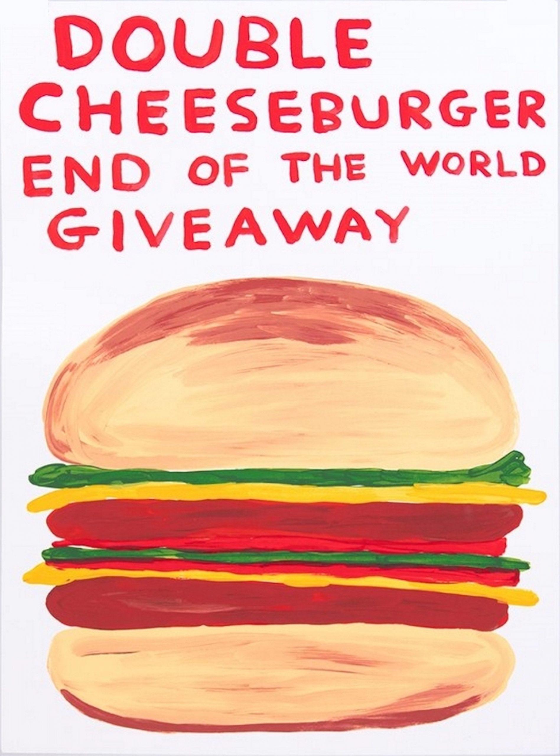 David Shrigley Double Cheeseburger, Siebdruck, nummeriert, Auflage 125