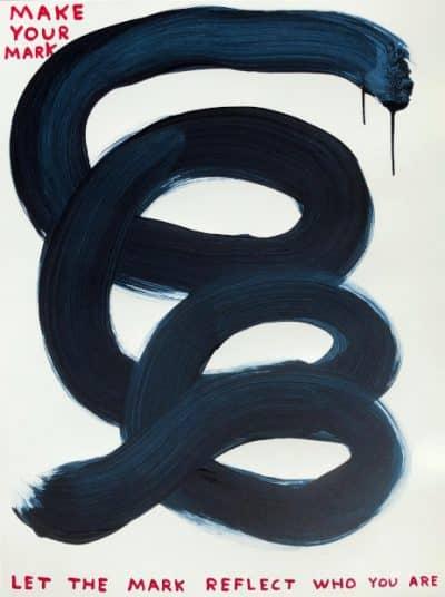 David Shrigley Make Your Mark, Siebdruck, initialisiert, nummeriert, Auflage 125 Stück