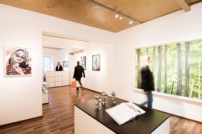 Ausstellung in der Kunstgalerie Frank Fluegel in Nürnberg Eingangsbereich