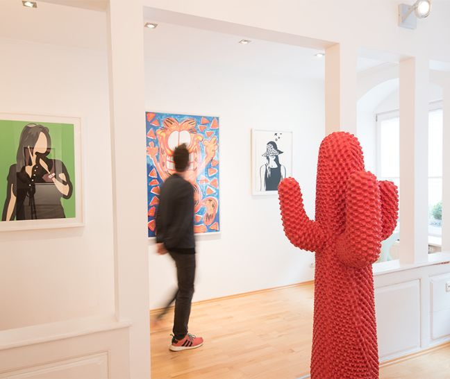 Ausstellung in der Kunstgalerie Frank Fluegel in Nürnberg Obergeschoss