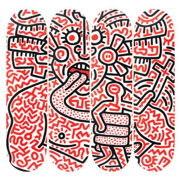 Keith Haring Man and Medusa Skateboards