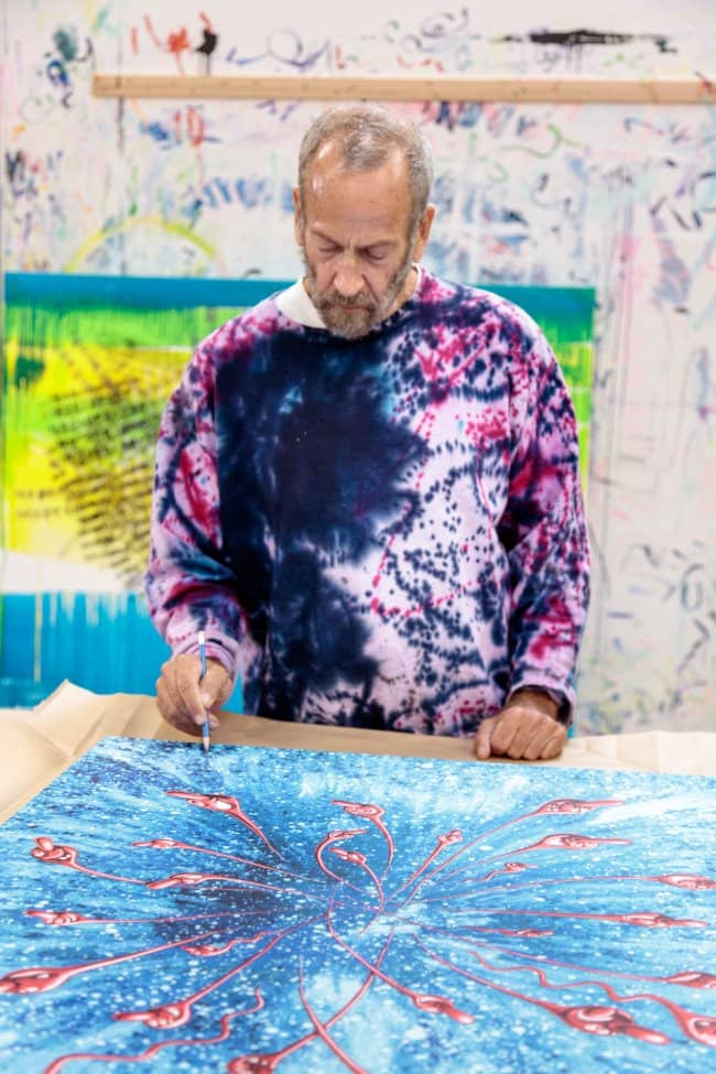 Kenny Scharf In The Beginning signing