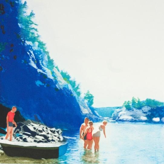 Isca Greenfield-Sanders Mountain Stream, Aquatinta, signiert, nummeriert, Auflage 50 Stück