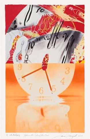 James Rosenquist Hole in the center of the clock, Lithograph, signiert, nummeriert, Auflage 60 Stueck