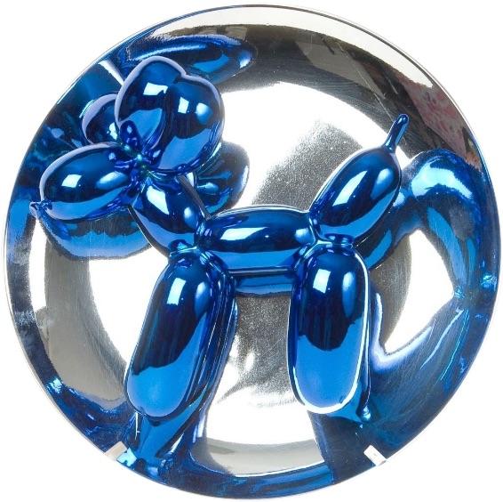 Jeff Koons Balloon Dog blue, Chromüberzug, signiert, nummeriert, Auflage 2300 Stück