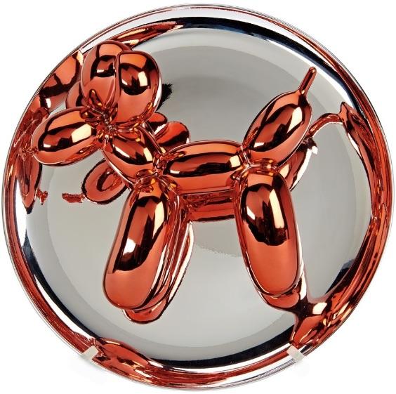 Jeff Koons Balloon Dog orange, Chromüberzug, signiert, nummeriert, Auflage 2300 Stück