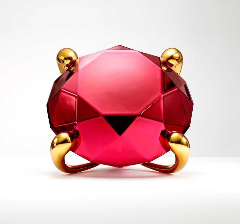 Jeff Koons Red Diamond Celebration Series Artwork