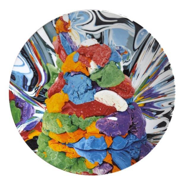 Jeff Koons Play Doh Service Plate, Porzellanteller, Auflage 2500 Stück