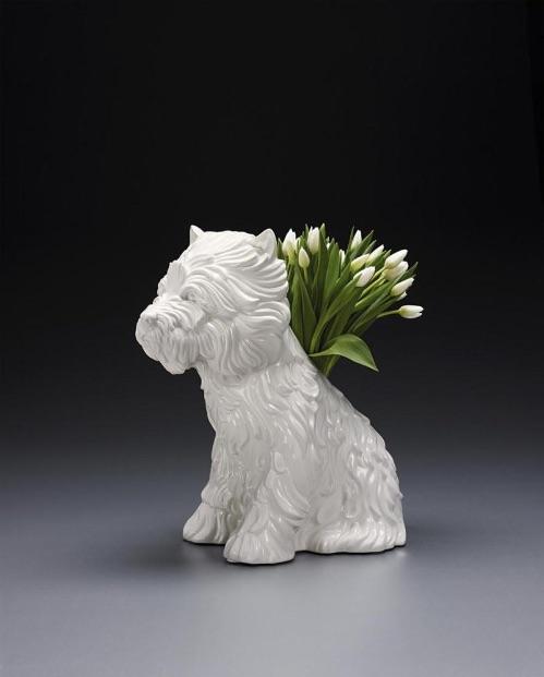 Jeff Koons Puppy Vase, Skulptur Vase, signiert, nummeriert, Auflage 3000 Stück