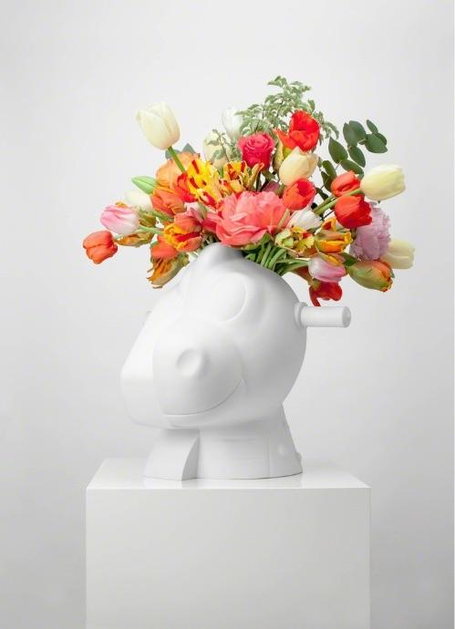 Jeff Koons Split-Rocker Vase, Skulptur Vase, signiert, nummeriert, Auflage 3500 Stück