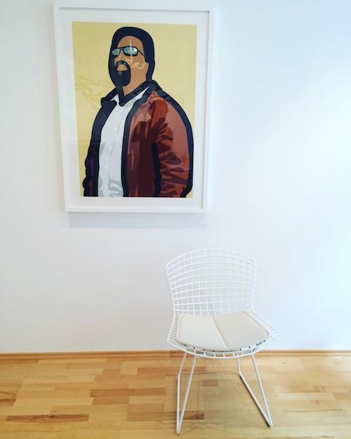 Julian Opie Tourist with beard (Wand), Siebdruck, signiert, nummeriert, Auflage 20 Stück