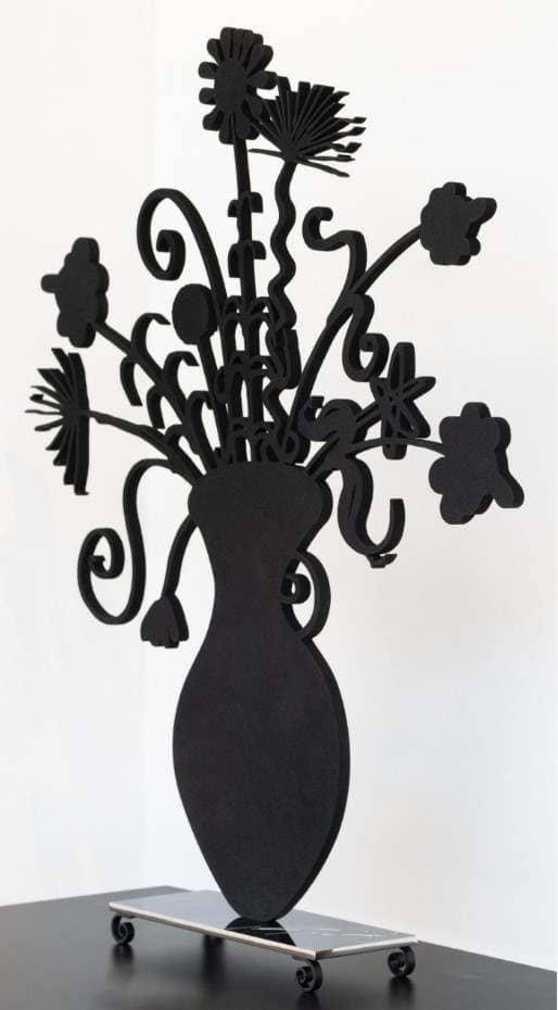 Kenny Scharf Flores Black Sculpture Perspective