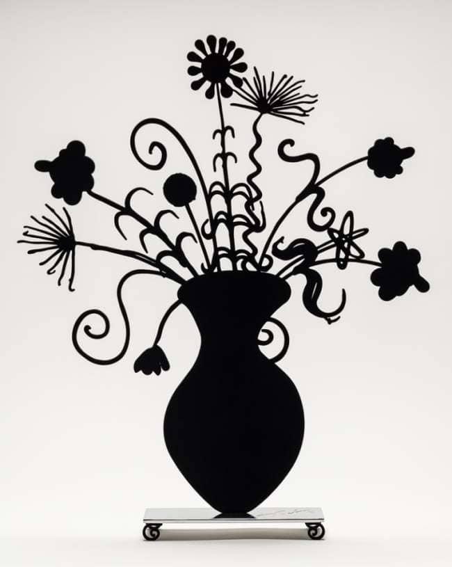 Kenny Scharf Flores Black Skulptur