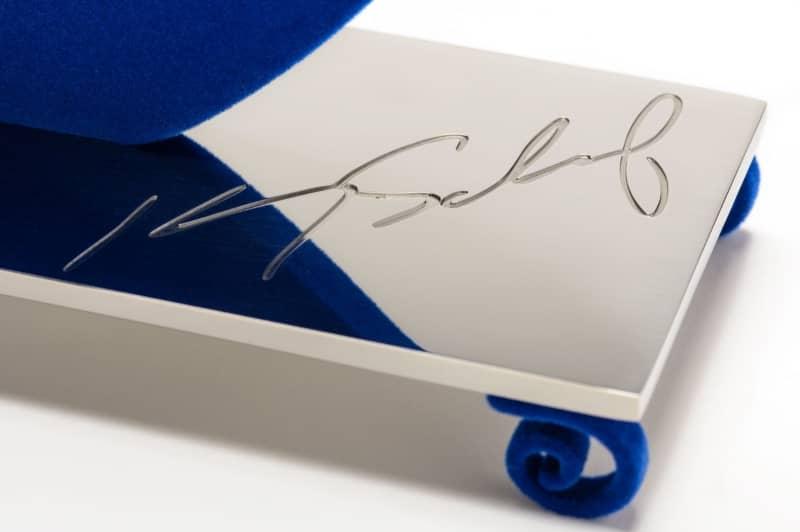Kenny Scharf Flores Blue Sculpture