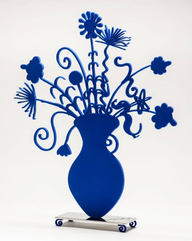 Kenny Scharf Flores Blue Skulptur