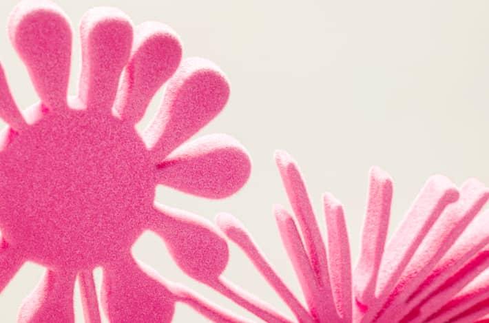 Kenny Scharf Flores Pink Detail 1, graviert, Auflage 15