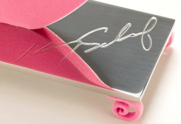 Kenny Scharf Flores Pink Signatur, Skulptur, graviert, Auflage 15