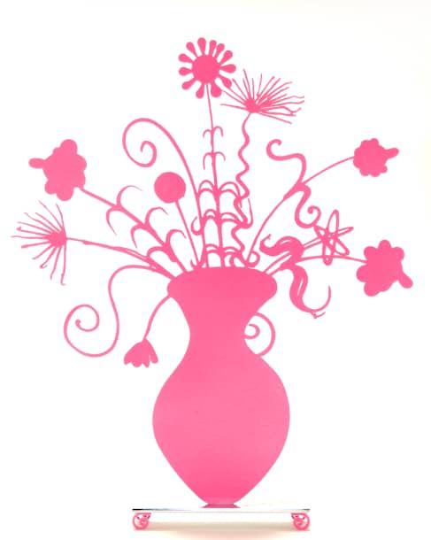 Kenny Scharf Flores Pink, Skulptur, graviert, Auflage 15