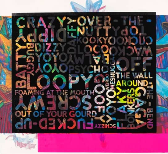 Mel Bochner Crazy, Siebdruck, signiert, nummeriert, Auflage 30 Stück