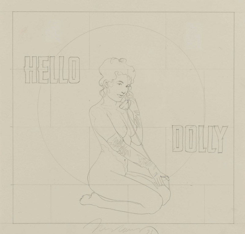 Mel Ramos Drawing Hello Dolly