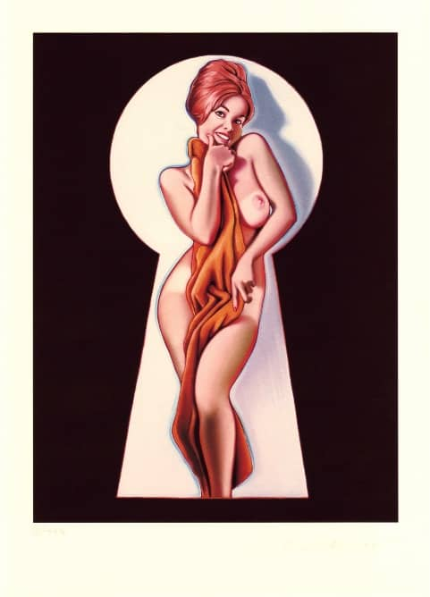 Mel Ramos Peek-a-Boo (the towel), Digitaldruck, signiert, nummeriert