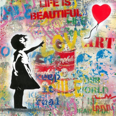 Mr. Brainwash Balloon Girl Kunstwerk kaufen
