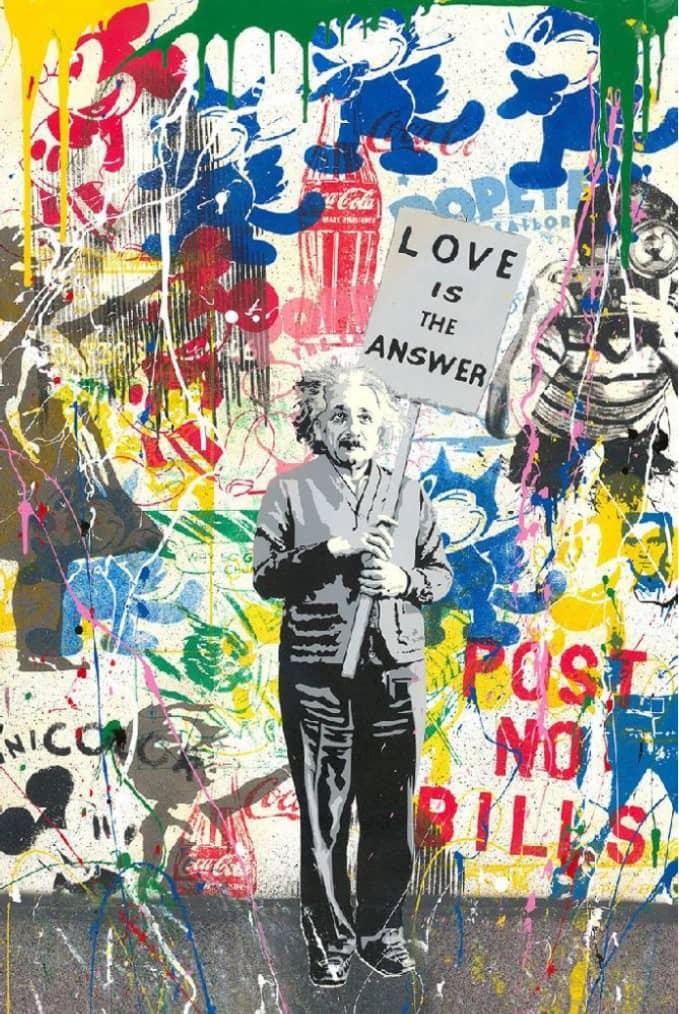 Mr. Brainwash Einstein Cement