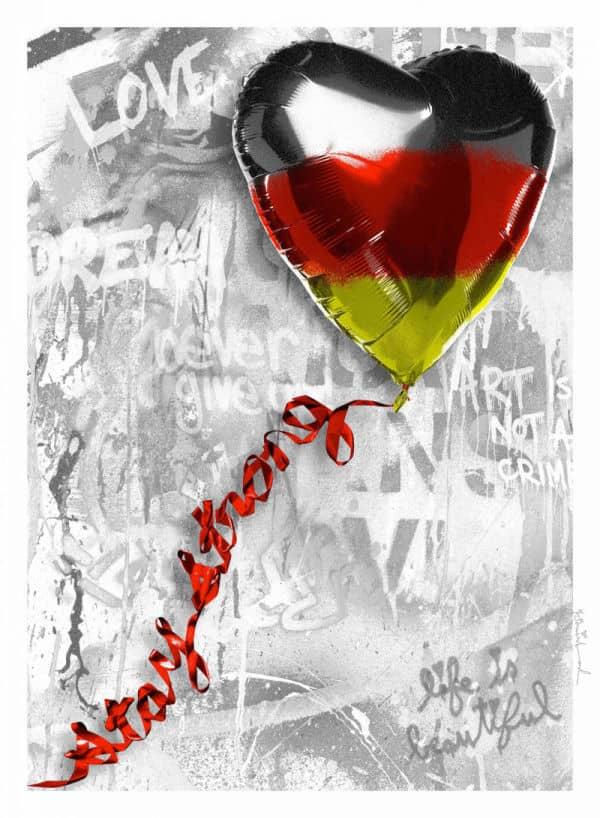 Mr. Brainwash Germany Stay strong, Siebdruck, signiert, nummeriert, Auflage 50 Stück